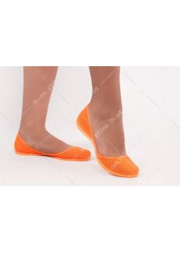 Силиконовые балетки оранжевые IN-OX